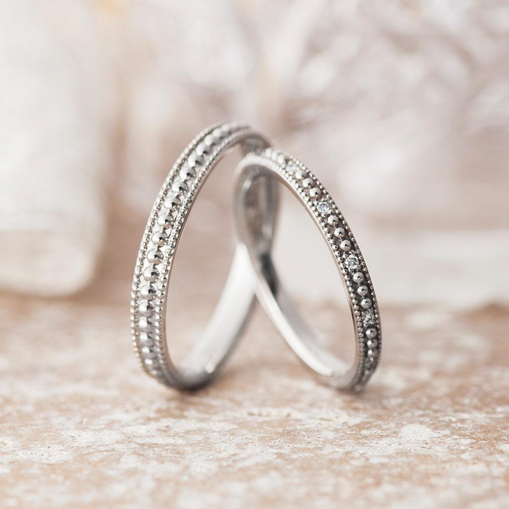 Pirouette -ピルエット- 結婚指輪 シンプル アンティーク ストレート プラチナ