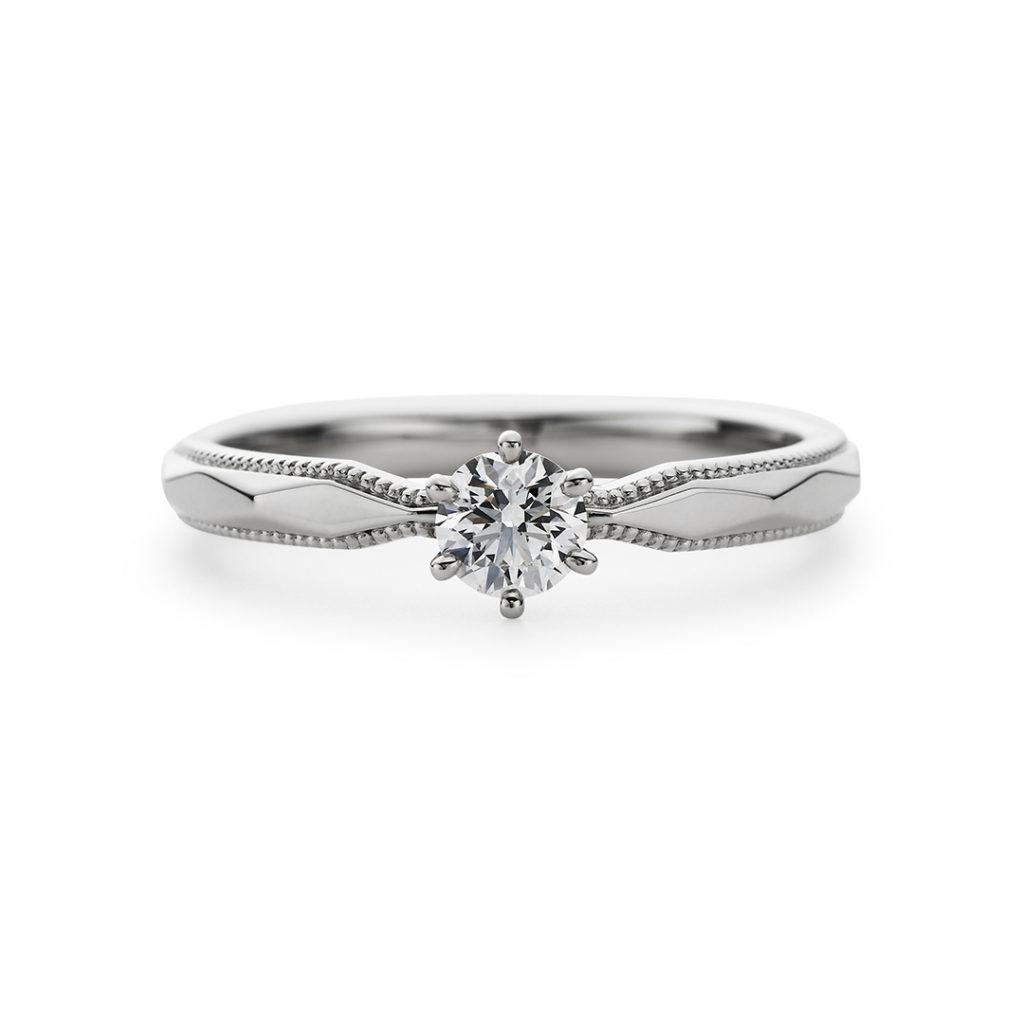 Polaire 婚約指輪 シンプル アンティーク ストレート プラチナ