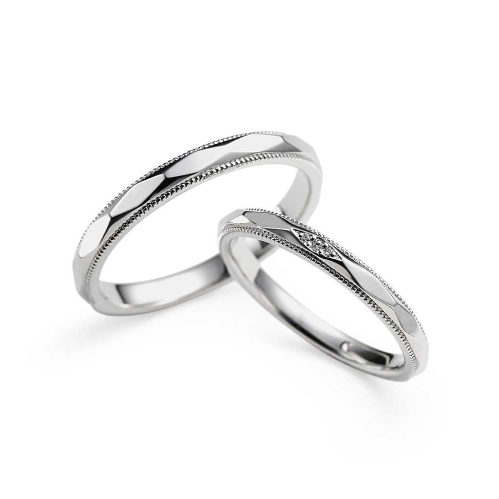 Polaire 結婚指輪 アンティーク キュート ストレート プラチナ