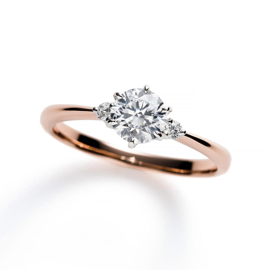 Propose 婚約指輪 シンプル エレガント ストレート ピンクゴールド