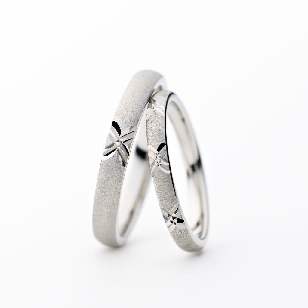 REYON 結婚指輪 シンプル アンティーク 個性派 ストレート プラチナ