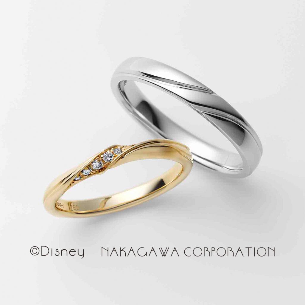 Rapunzel 結婚指輪 キュート  プラチナ イエローゴールド