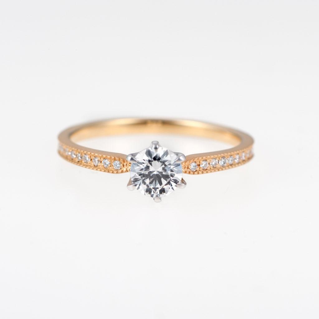 RibonClassic 婚約指輪 キュート エタニティ イエローゴールド