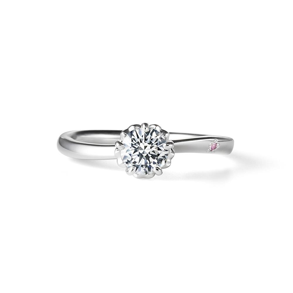 SAKURA 婚約指輪 キュート S字(ウェーブ) プラチナ