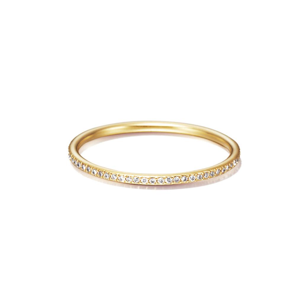 Sweet Pea 婚約指輪 結婚指輪 シンプル ストレート エタニティ イエローゴールド