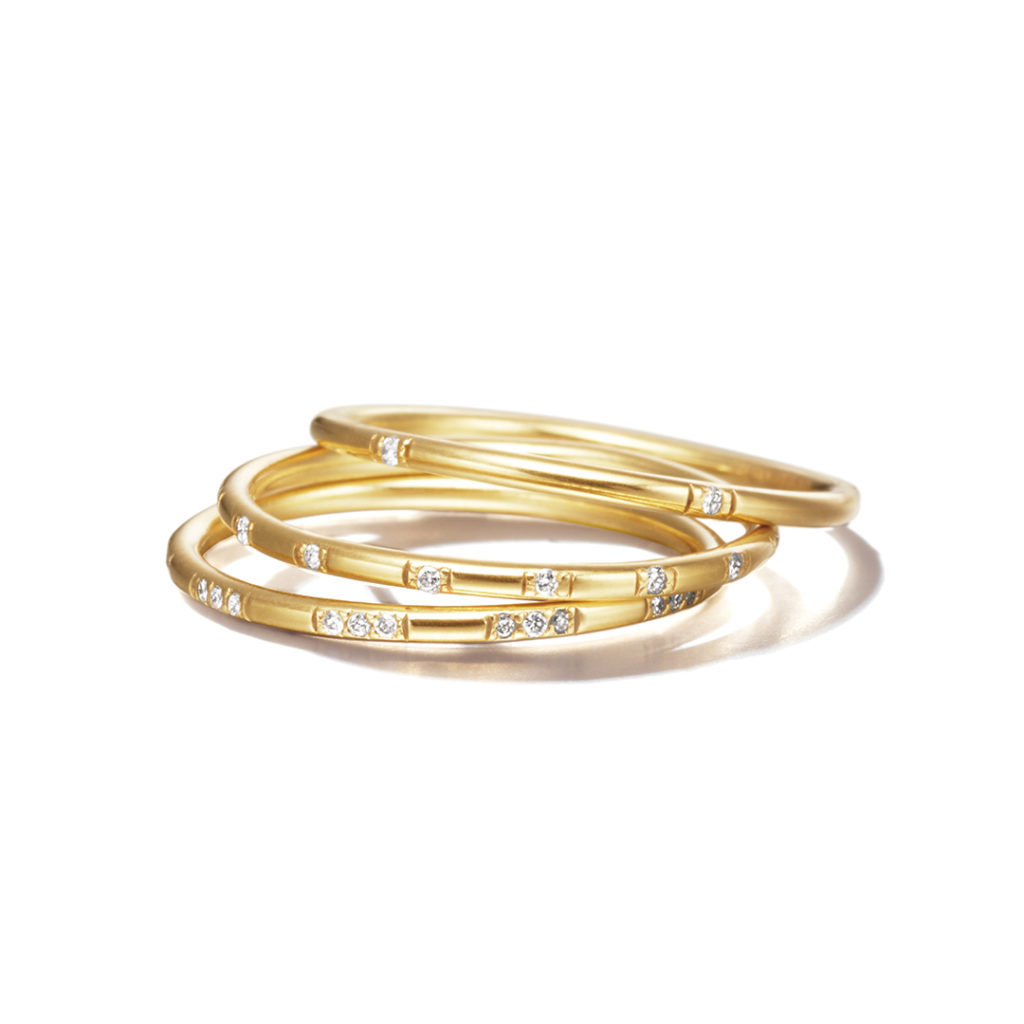 Sweet Pea 婚約指輪 結婚指輪 シンプル アンティーク ストレート イエローゴールド