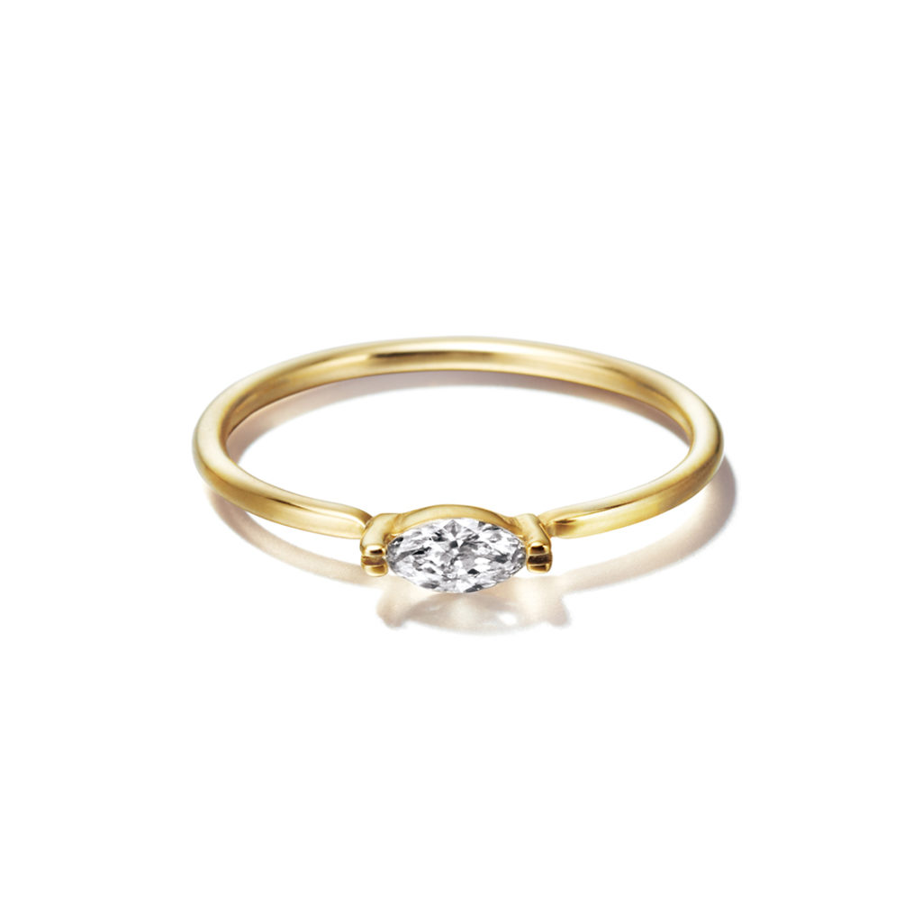 Sweet Pea 婚約指輪 シンプル アンティーク 個性派 ストレート イエローゴールド
