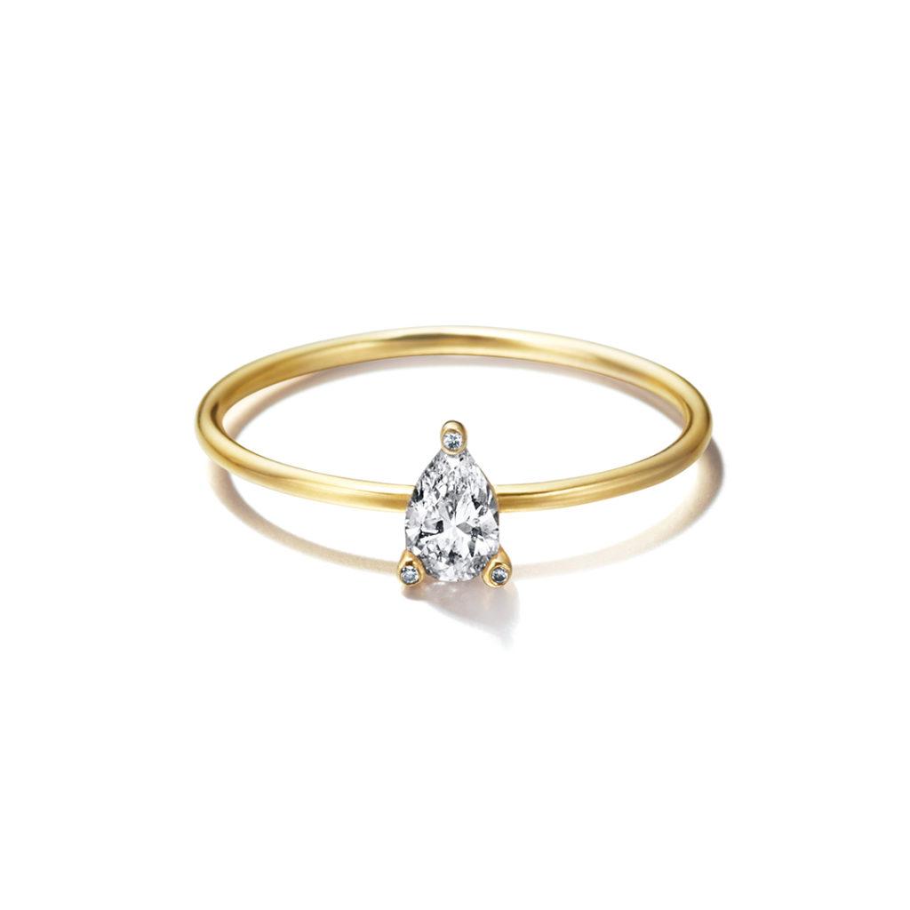 Sweet Pea 婚約指輪 シンプル エレガント アンティーク キュート 個性派 ストレート イエローゴールド