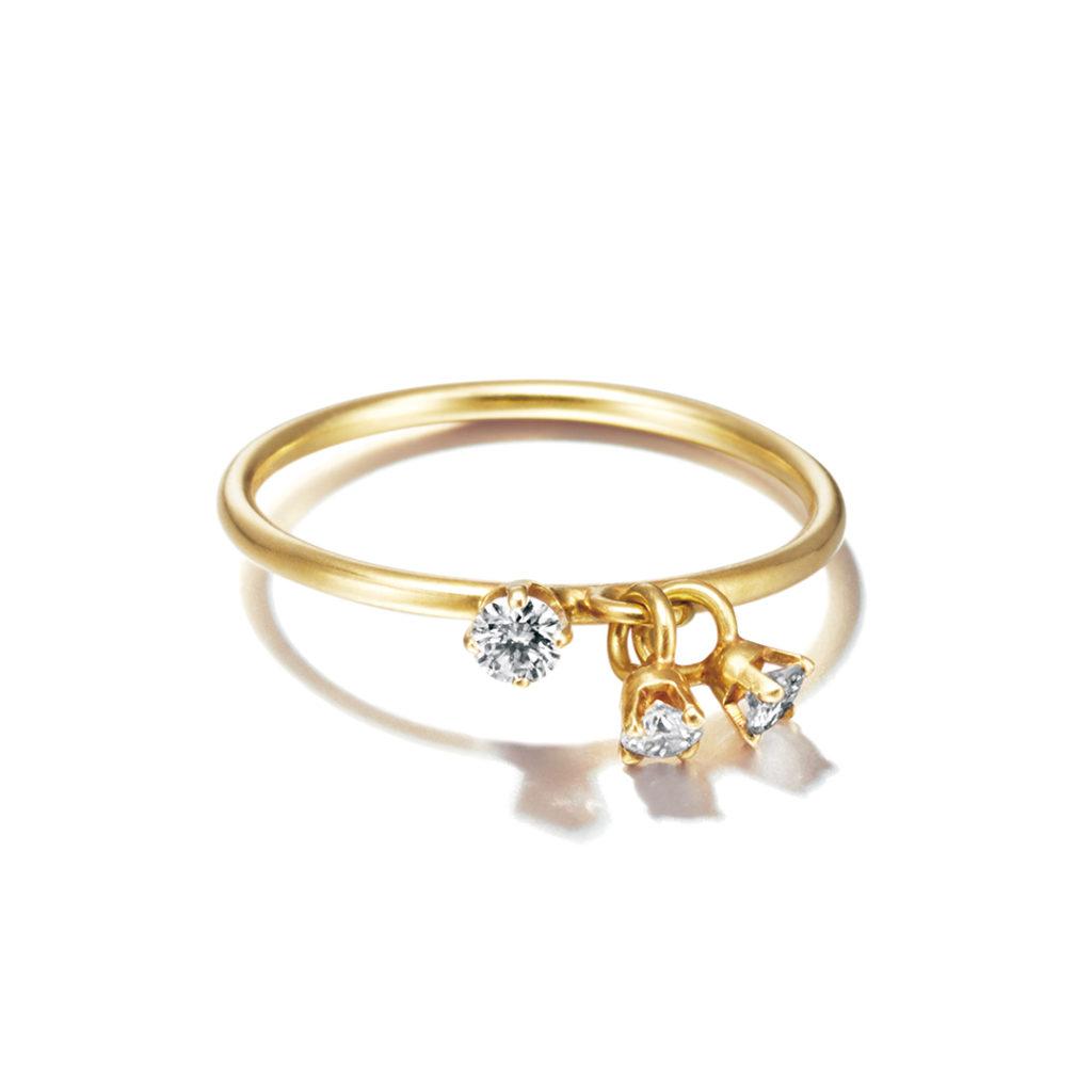 Sweet Pea 婚約指輪 アンティーク 個性派 ストレート イエローゴールド