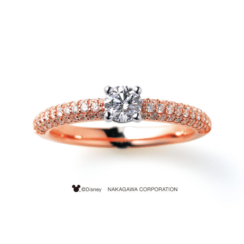 STAR CLUSTER [星団] 婚約指輪 エレガント 個性派 ストレート ピンクゴールド コンビ