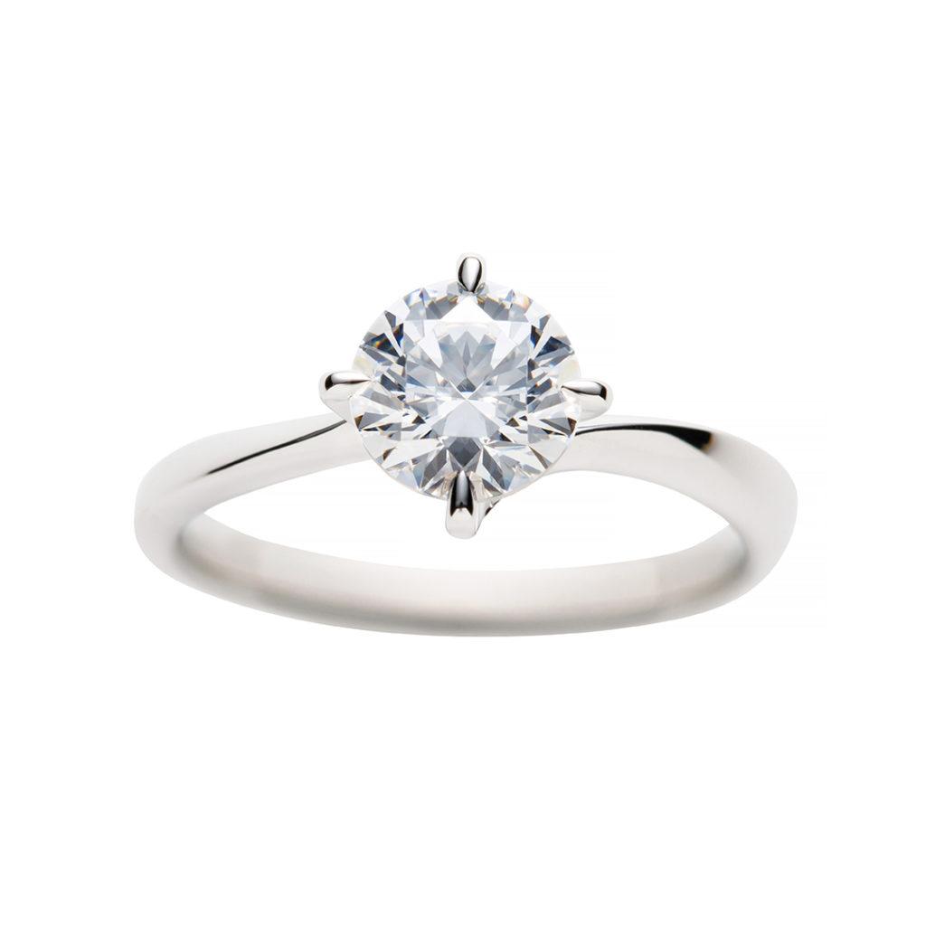 swan 婚約指輪 シンプル S字(ウェーブ) プラチナ
