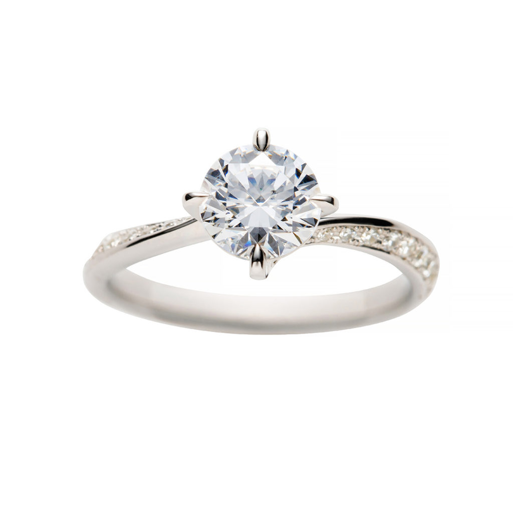 swan 婚約指輪 エレガント S字(ウェーブ) プラチナ