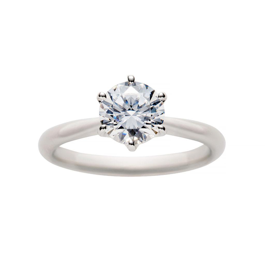 swan 婚約指輪 シンプル ストレート プラチナ