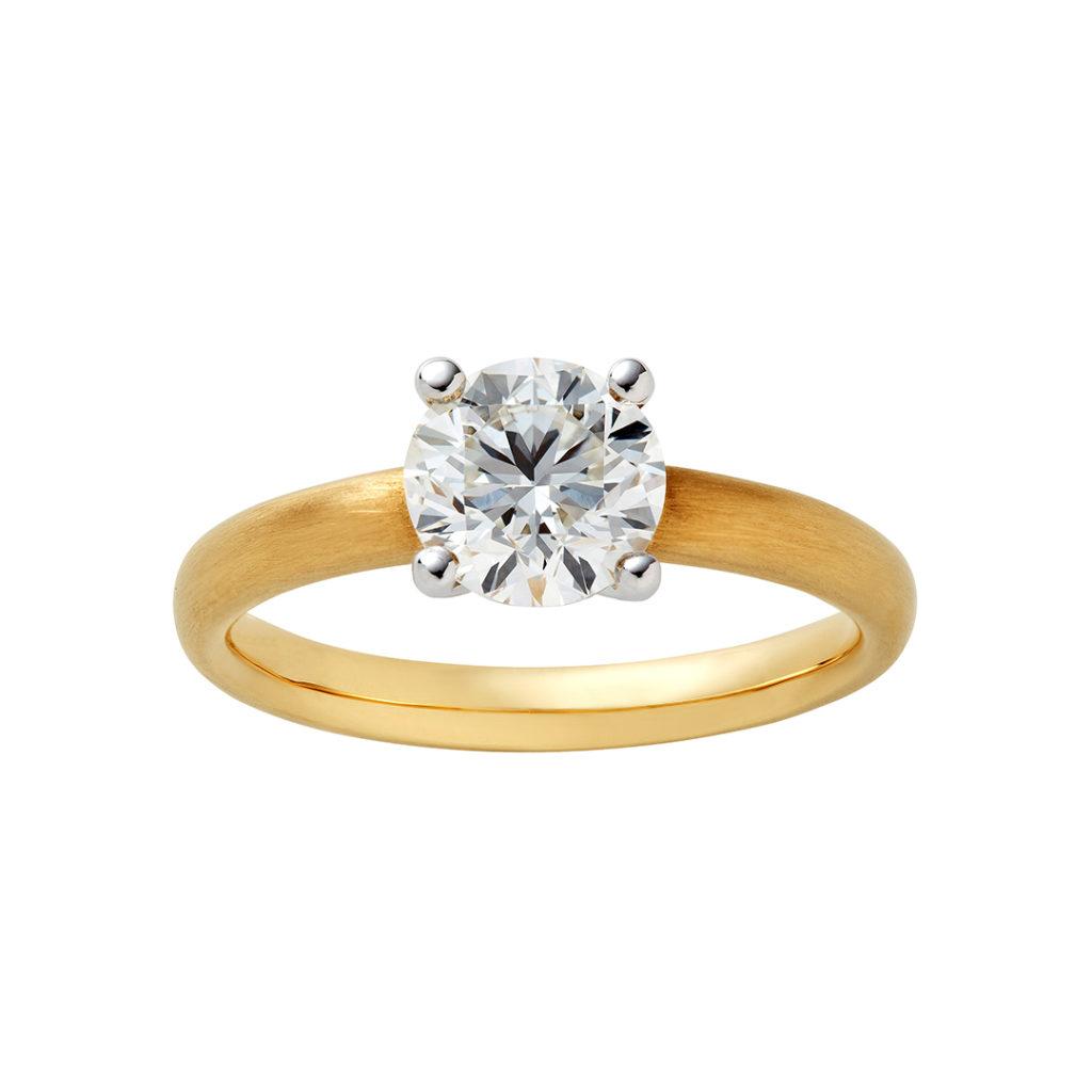 swan 婚約指輪 シンプル  イエローゴールド