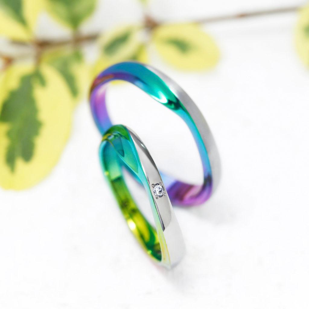 SWELL 結婚指輪 シンプル 個性派 ストレート ジルコニウム