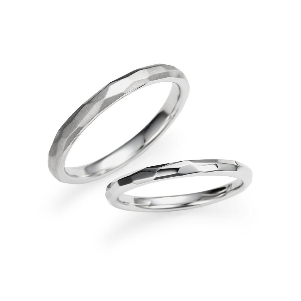 Saison 結婚指輪 アンティーク 個性派 ストレート プラチナ