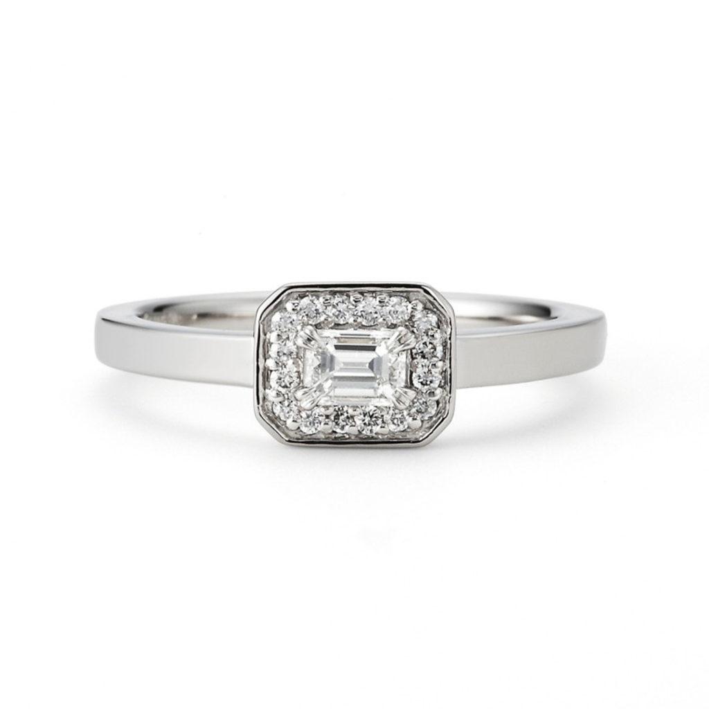 Siena 婚約指輪 アンティーク 個性派 ストレート プラチナ
