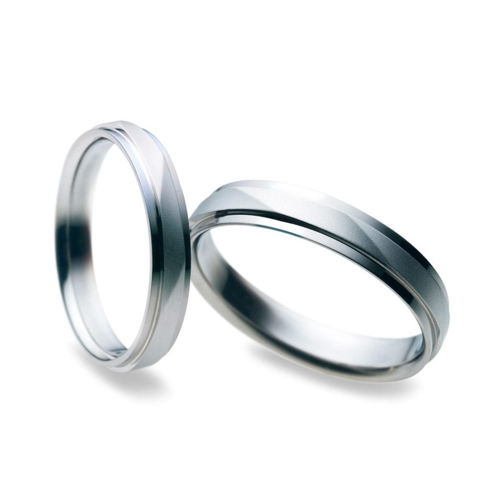 Something Blue 結婚指輪 シンプル 個性派 ストレート 幅広 プラチナ