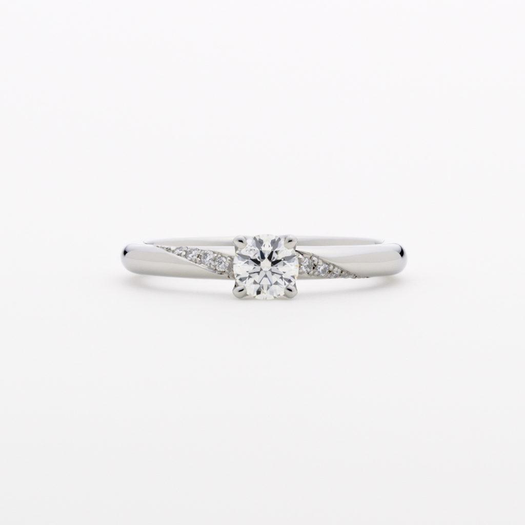 Spica 婚約指輪 エレガント キュート 個性派 ストレート プラチナ