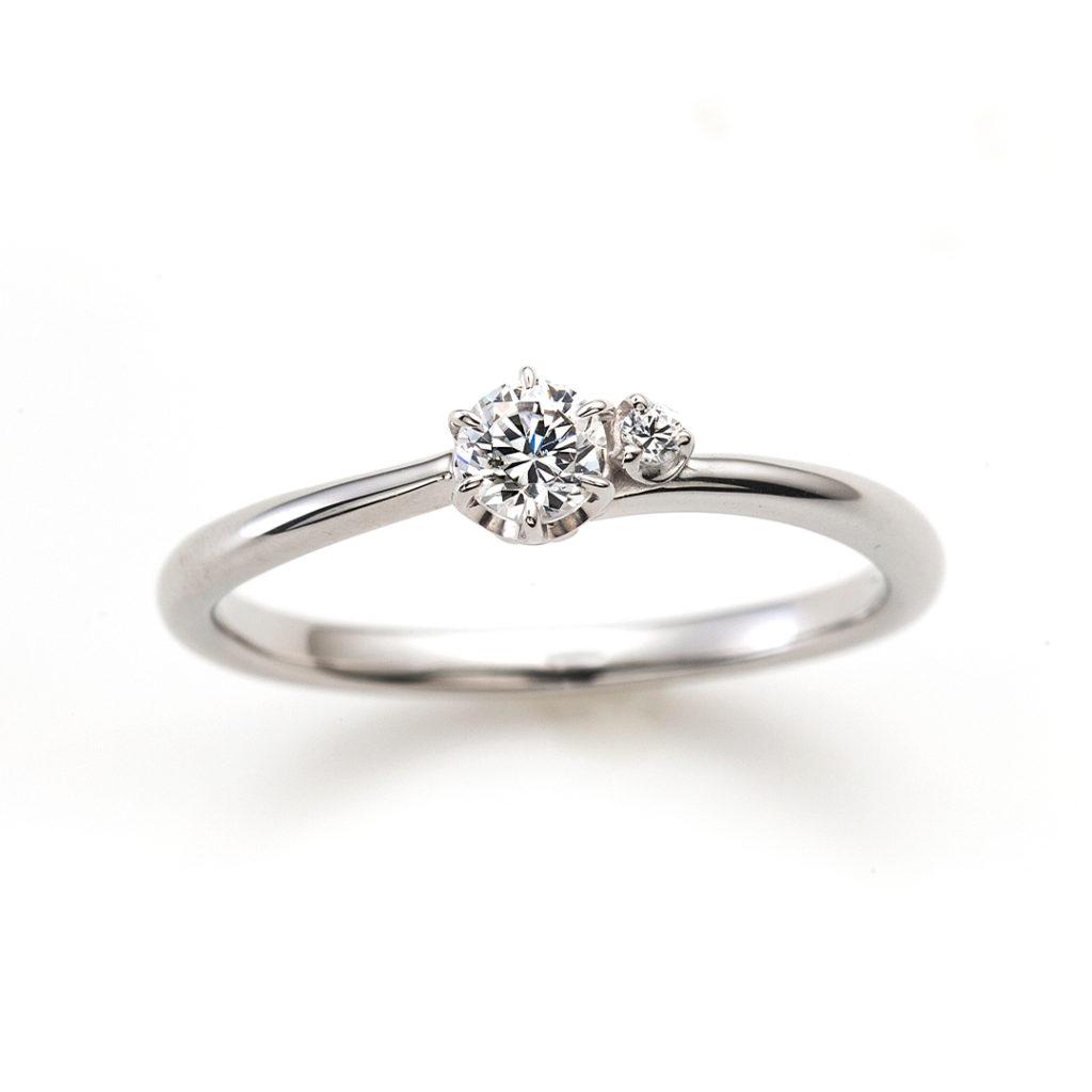 Sweet Little Things 婚約指輪 シンプル S字(ウェーブ) プラチナ