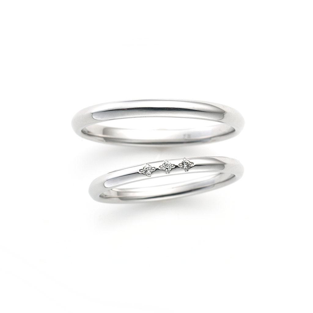 Sweet words 結婚指輪 シンプル キュート ストレート プラチナ