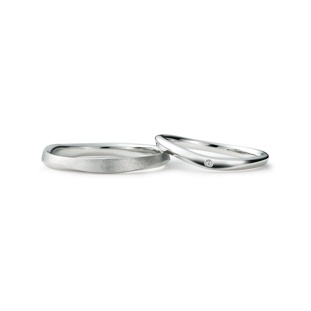 TAIKYOKU 結婚指輪 個性派 V字(ウェーブ) プラチナ