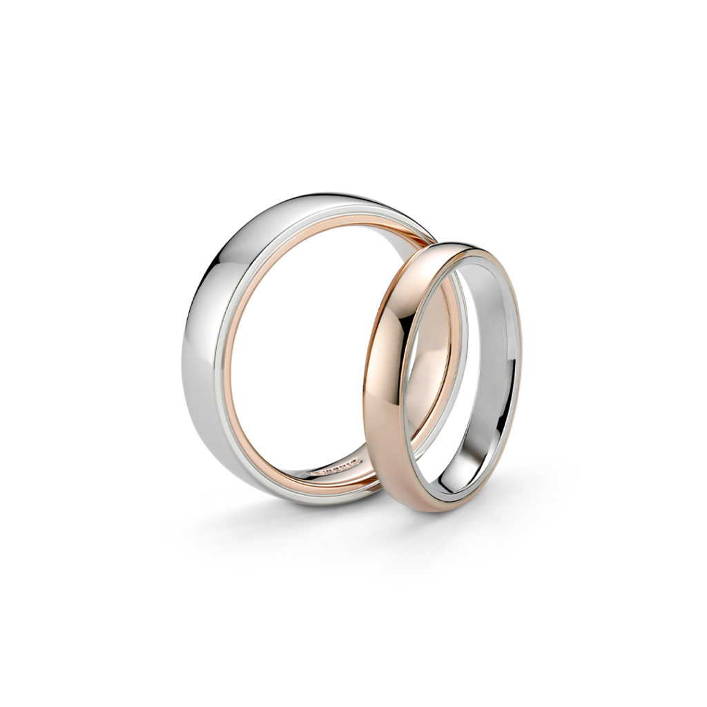 NIESSING TANGO 結婚指輪 シンプル ストレート プラチナ イエローゴールド ピンクゴールド