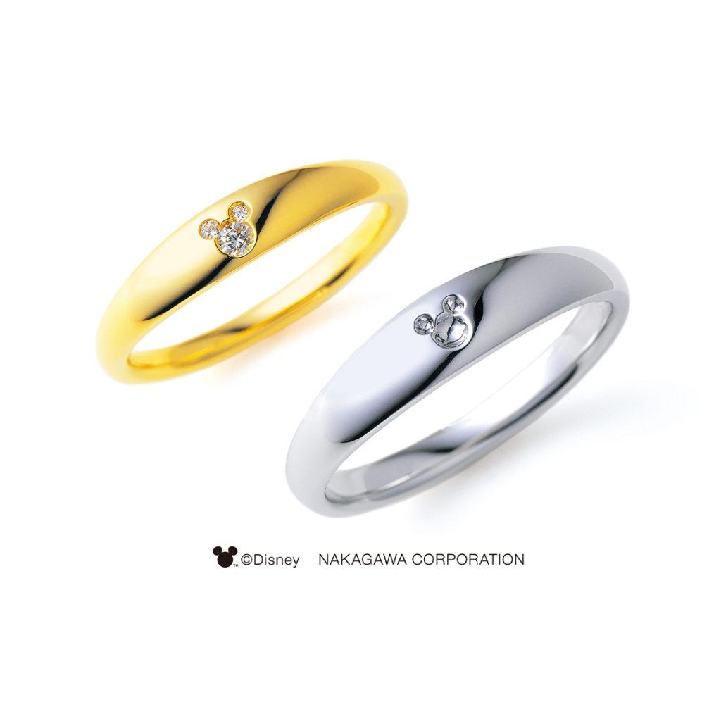 THE FIRST STAR  結婚指輪 シンプル キュート 個性派 ストレート プラチナ イエローゴールド