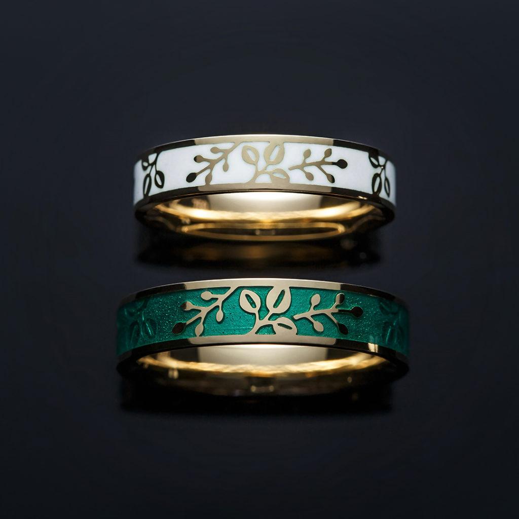 TOKIWA 結婚指輪 個性派 ストレート 幅広 イエローゴールド