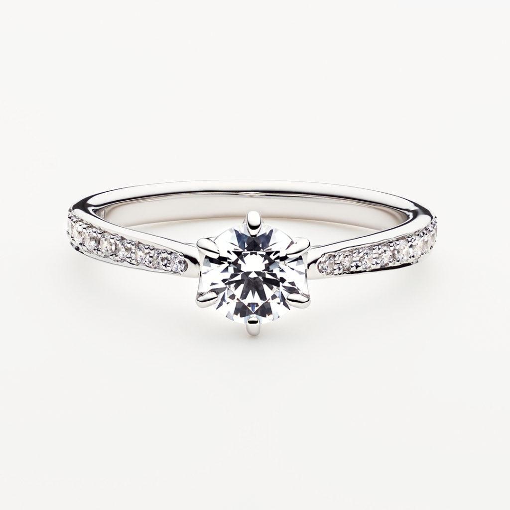 TRICKLE 婚約指輪 エレガント 個性派 ストレート エタニティ パラジウム