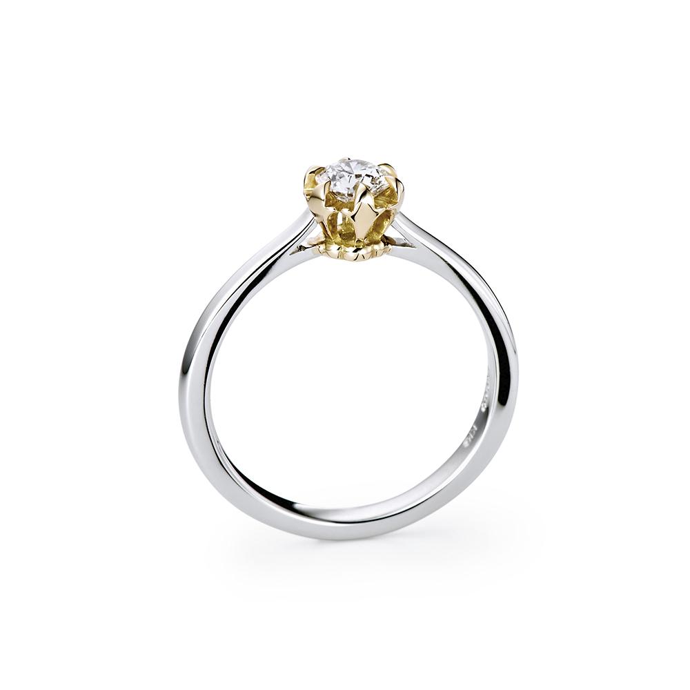 TSUBOMI 婚約指輪 アンティーク キュート 個性派 ストレート コンビ