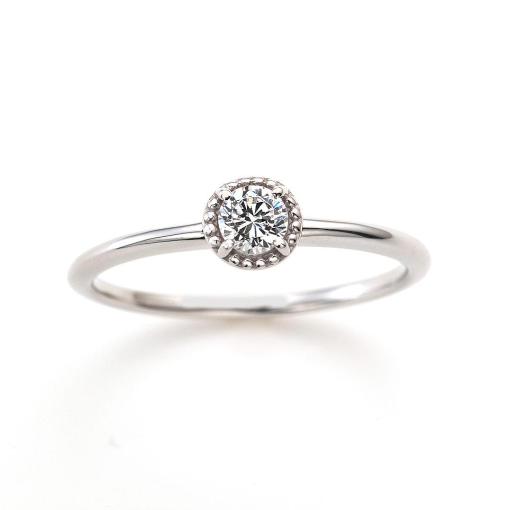 Twinkle 婚約指輪 シンプル アンティーク ストレート プラチナ