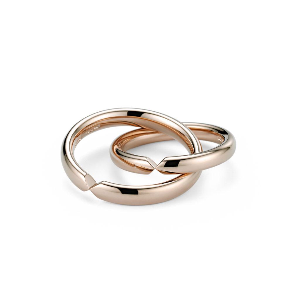 NIESSING UNITA 結婚指輪 シンプル ストレート ピンクゴールド