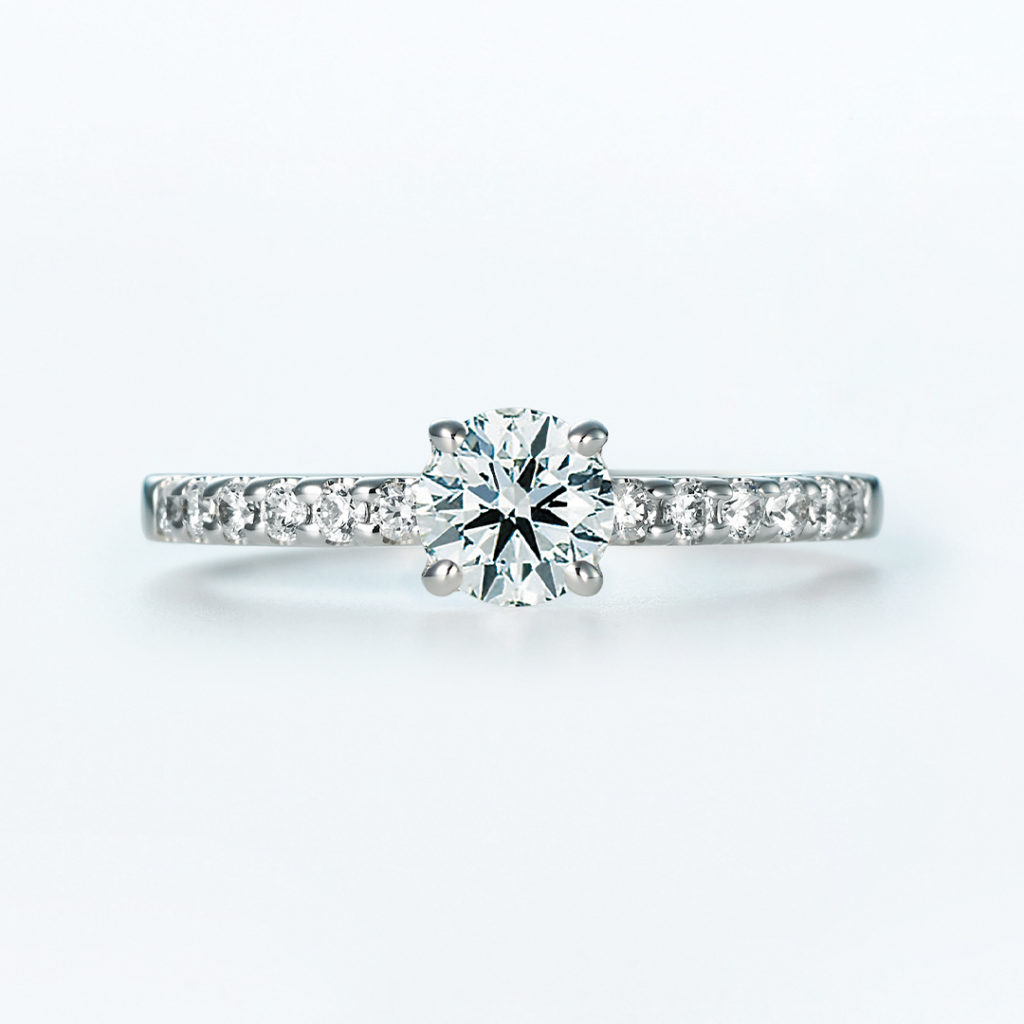 Vega 婚約指輪 シンプル エレガント ストレート エタニティ プラチナ