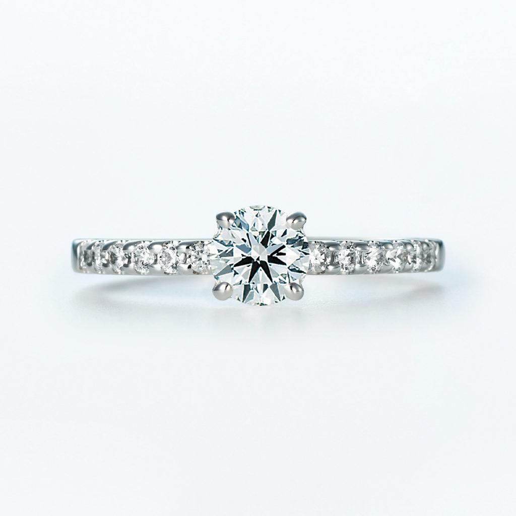 Trinity 婚約指輪 シンプル エレガント ストレート エタニティ プラチナ