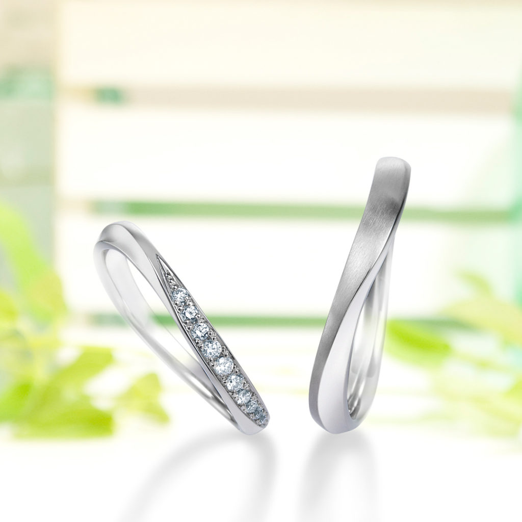 Wind of Seychelles 結婚指輪 エレガント S字(ウェーブ) プラチナ