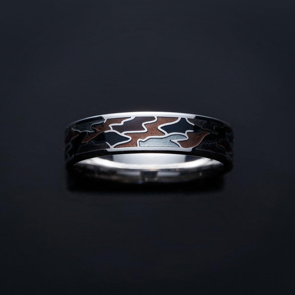 YOU 結婚指輪 個性派 ストレート 幅広 プラチナ ホワイトゴールド