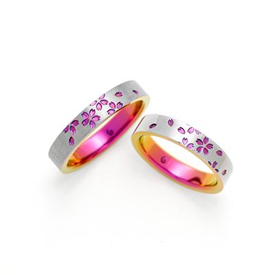 MAI SAKURA 結婚指輪 個性派  ジルコニウム