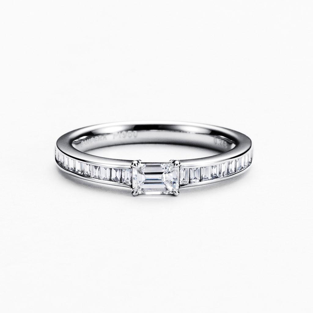 ORIZZONTE  婚約指輪 シンプル エレガント ストレート エタニティ プラチナ