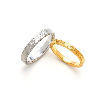 CHEWRING 結婚指輪 シンプル キュート ストレート プラチナ イエローゴールド