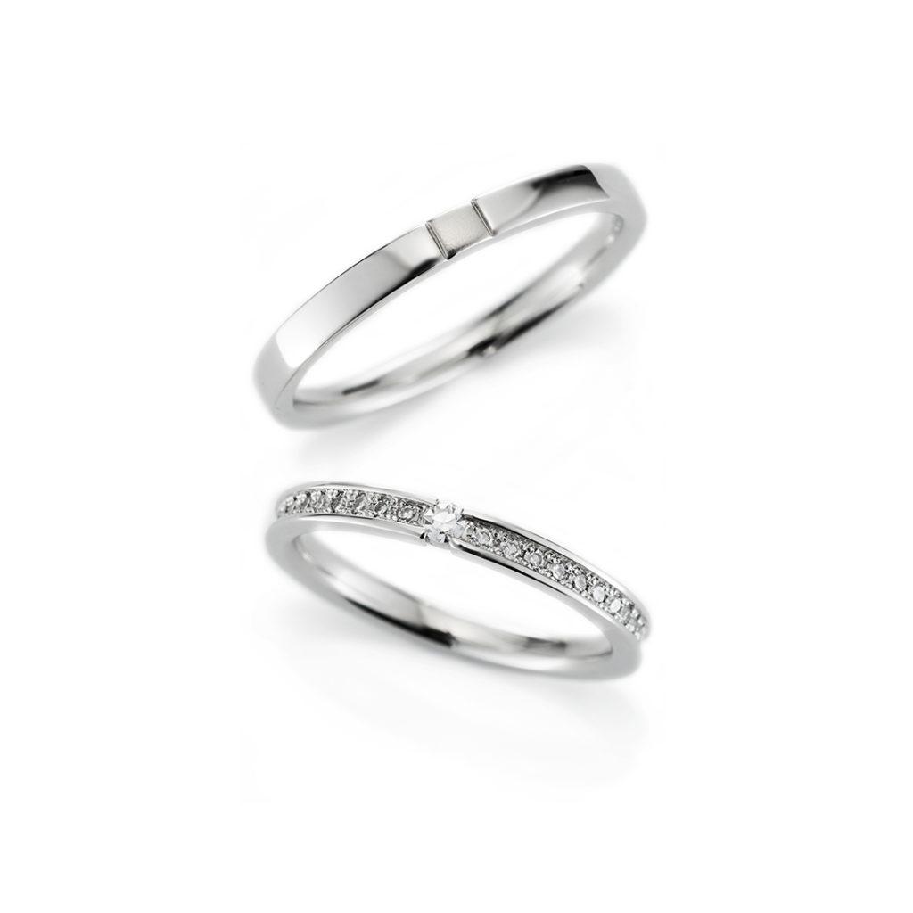 Sincerely 結婚指輪 エレガント ストレート エタニティ プラチナ