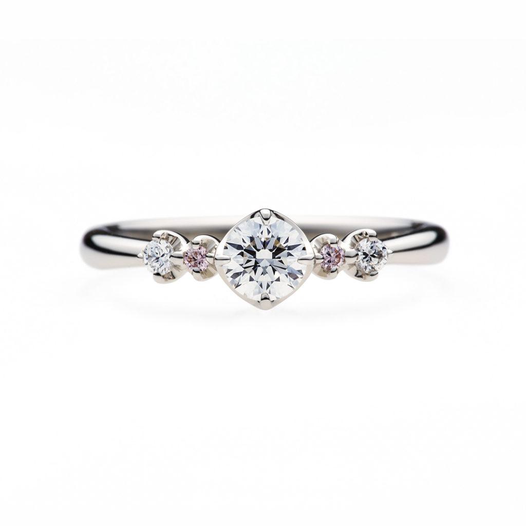 fraisierⅡ 婚約指輪 シンプル キュート ストレート プラチナ