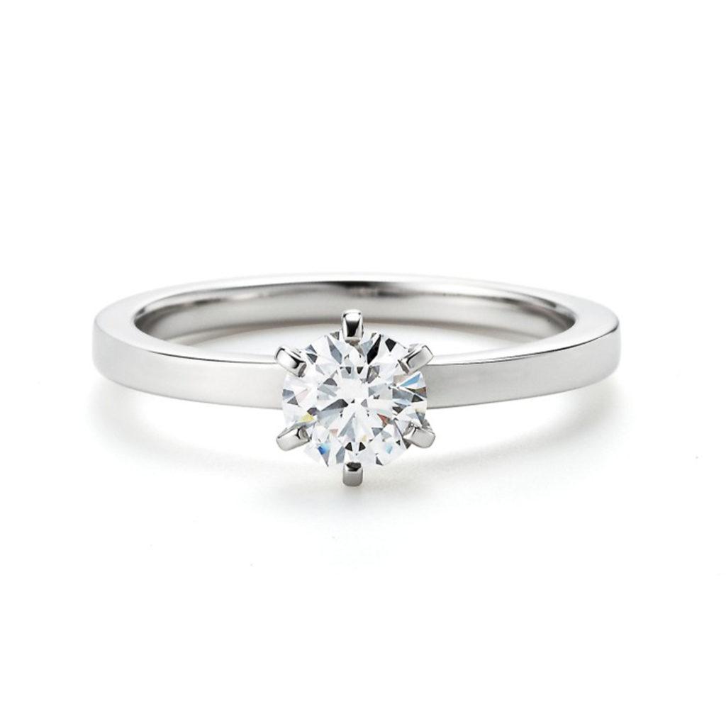 adagio 婚約指輪 シンプル アンティーク ストレート