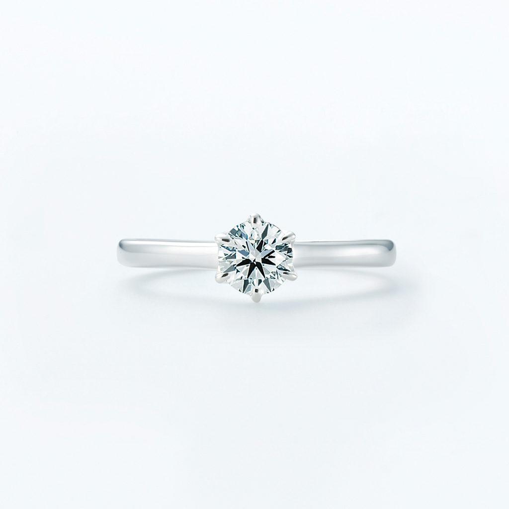 Albireo 婚約指輪 シンプル ストレート プラチナ