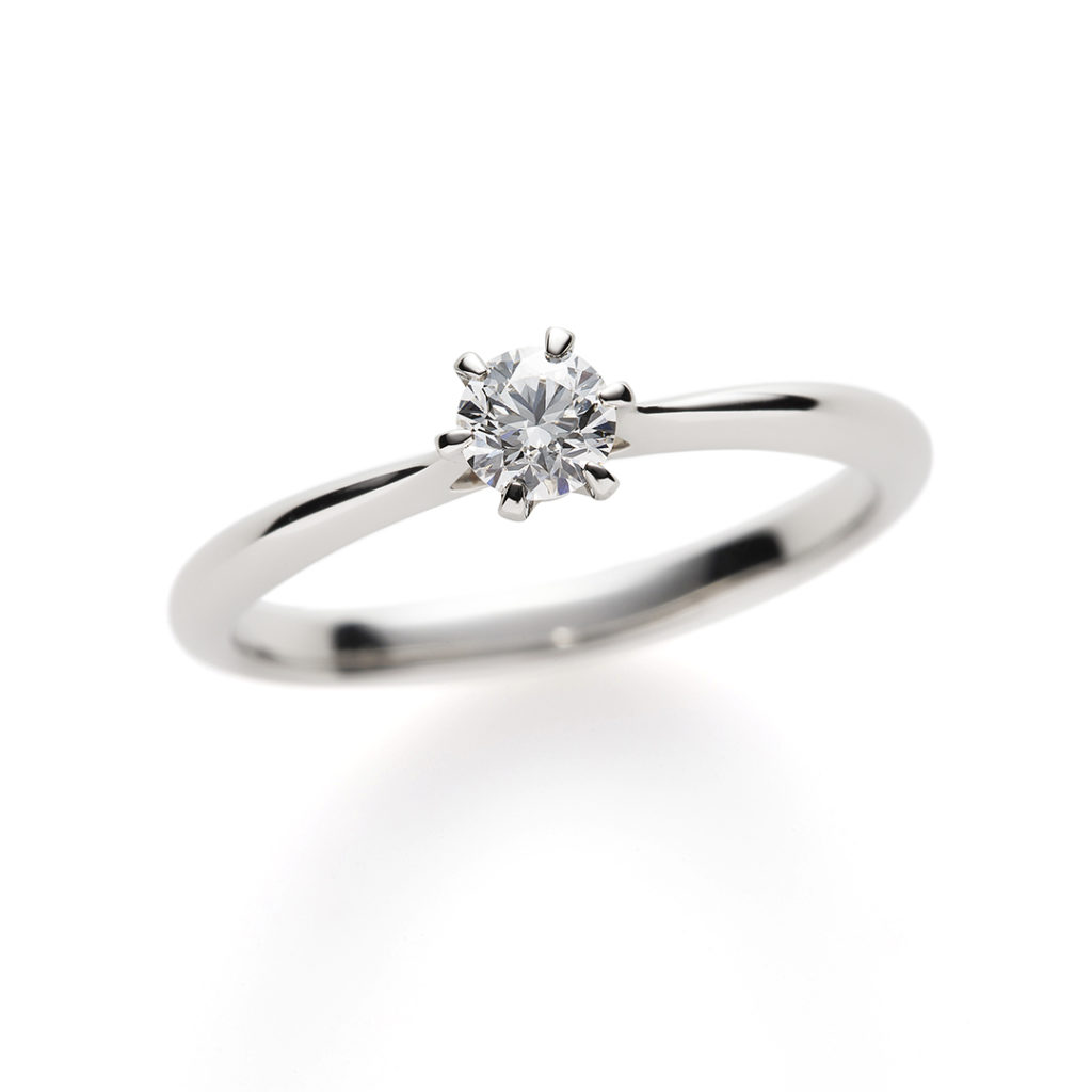 Angel Face 婚約指輪 シンプル ストレート プラチナ