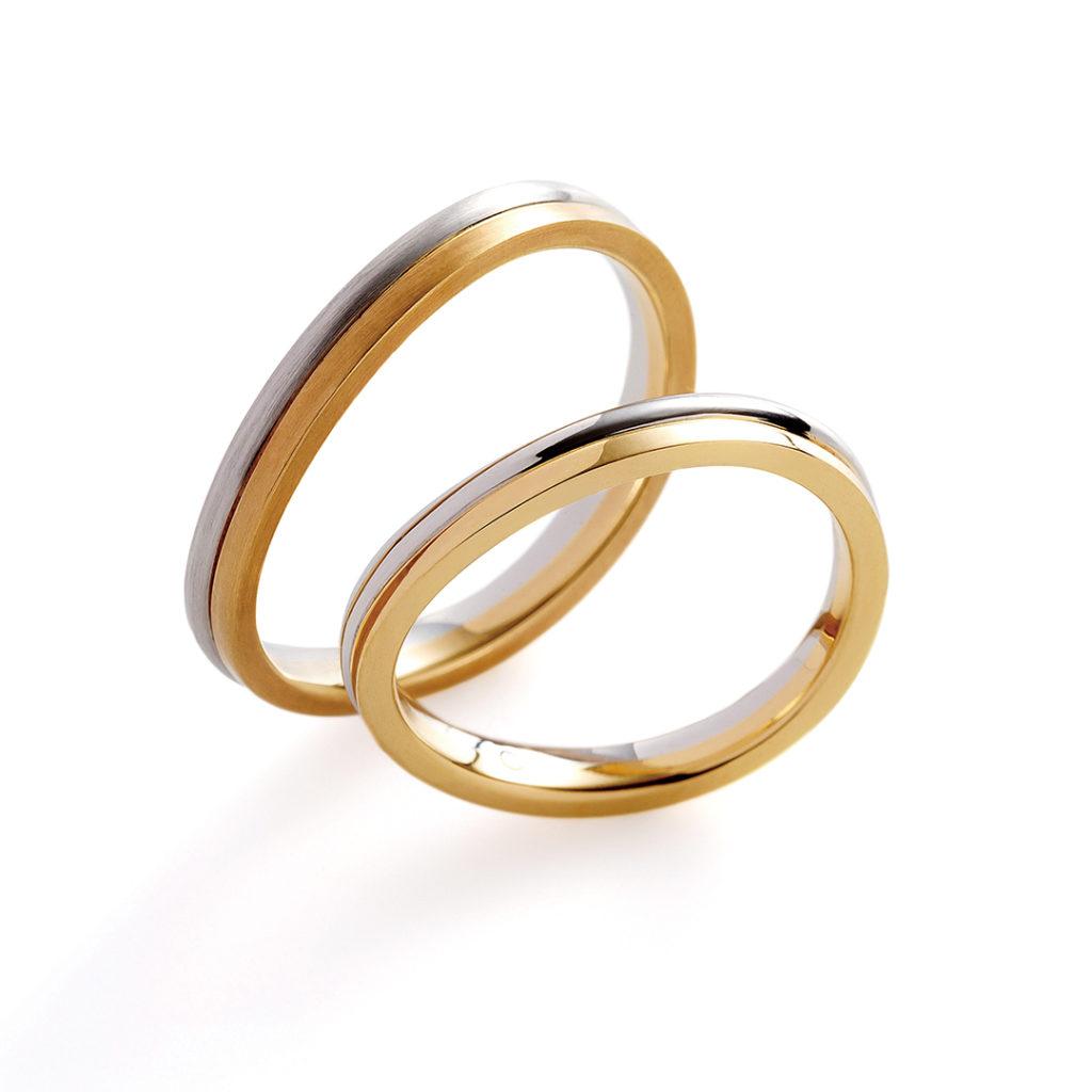 arco 結婚指輪 シンプル V字(ウェーブ) コンビ