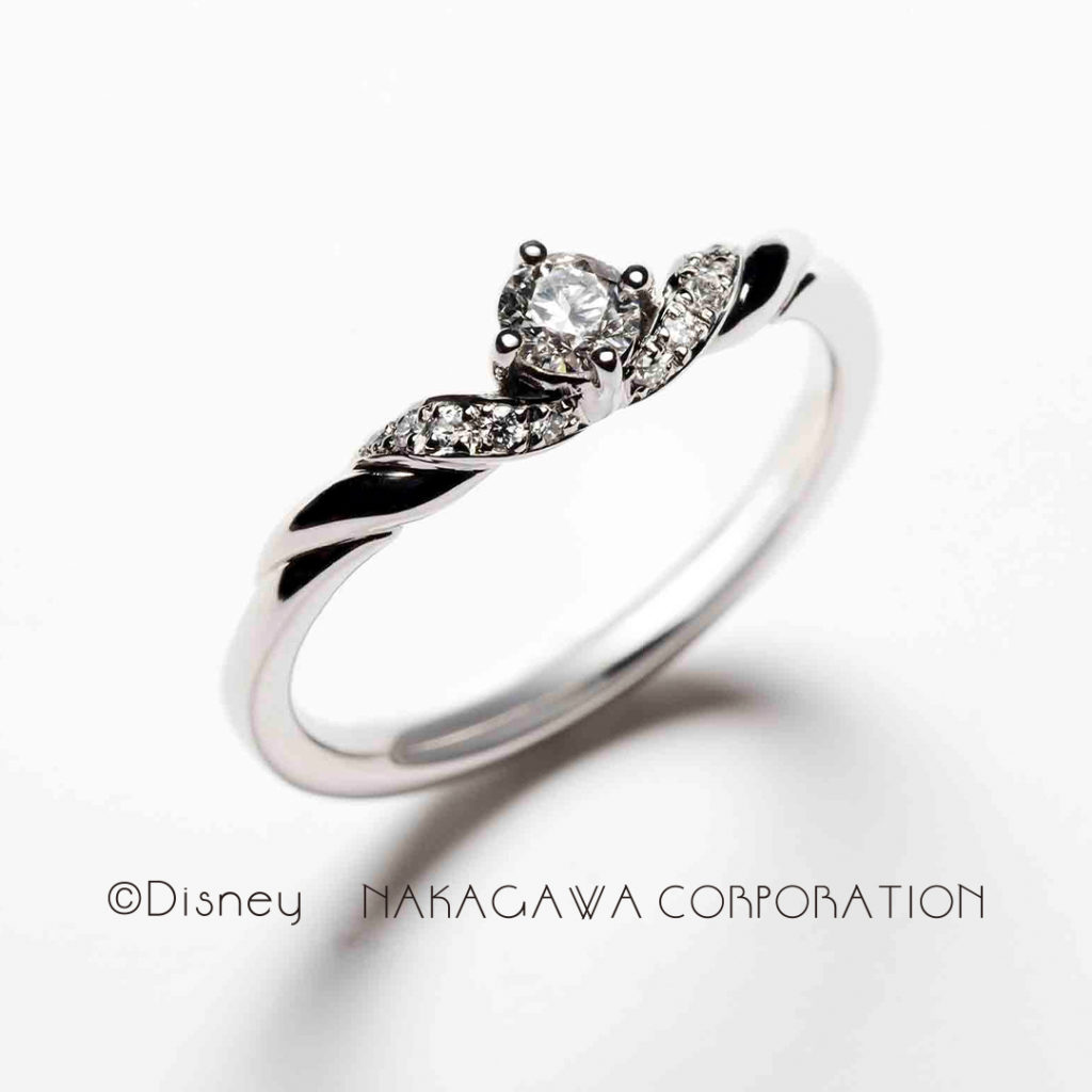 ariel 婚約指輪 エレガント キュート 個性派 S字(ウェーブ) プラチナ