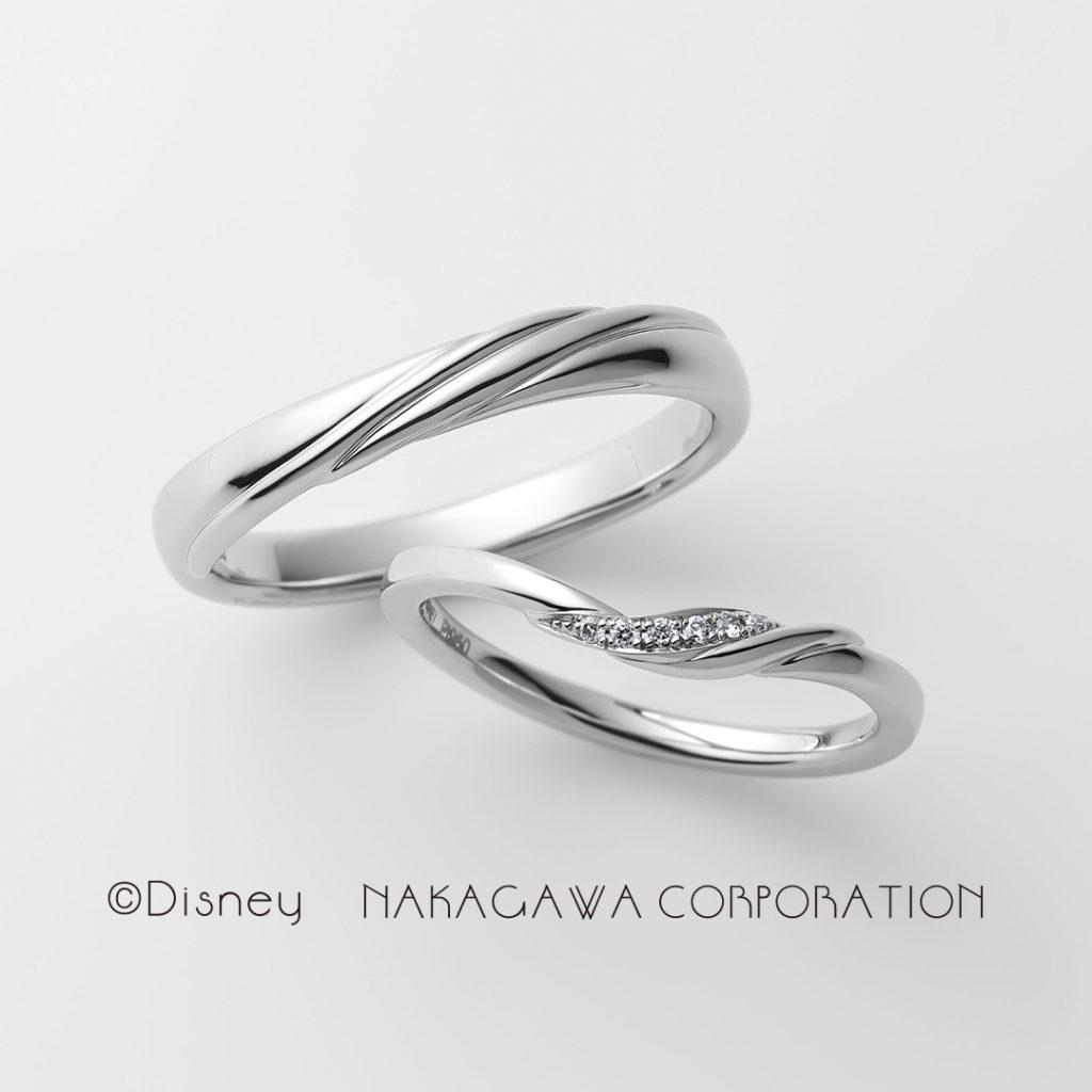 ariel 結婚指輪 シンプル エレガント V字(ウェーブ) プラチナ