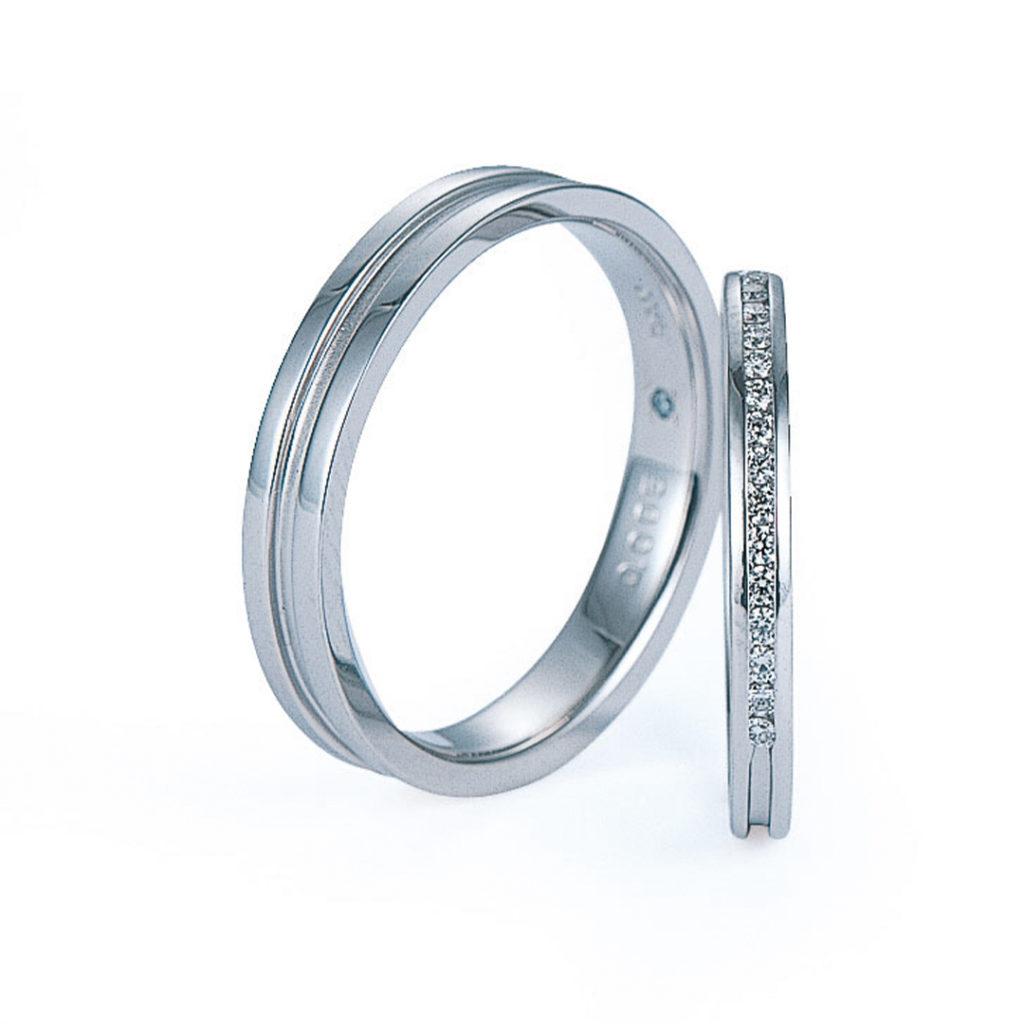 Rivière 結婚指輪 エレガント キュート ストレート プラチナ