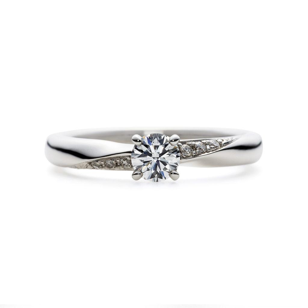 Jelate 婚約指輪 シンプル ストレート プラチナ